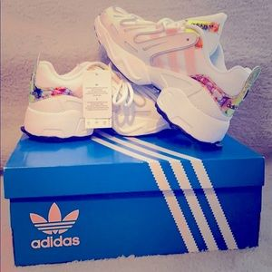 Adidas Gazelle Sneakers White Pink Silver 5.5